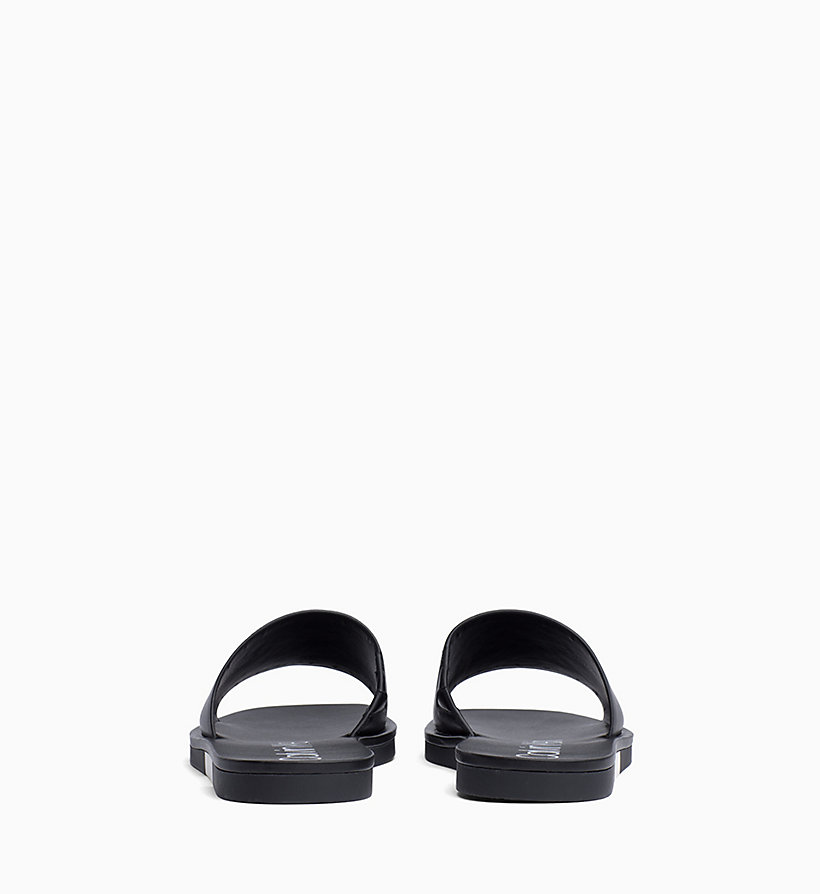 Calvin Klein - Leather Sliders - 3