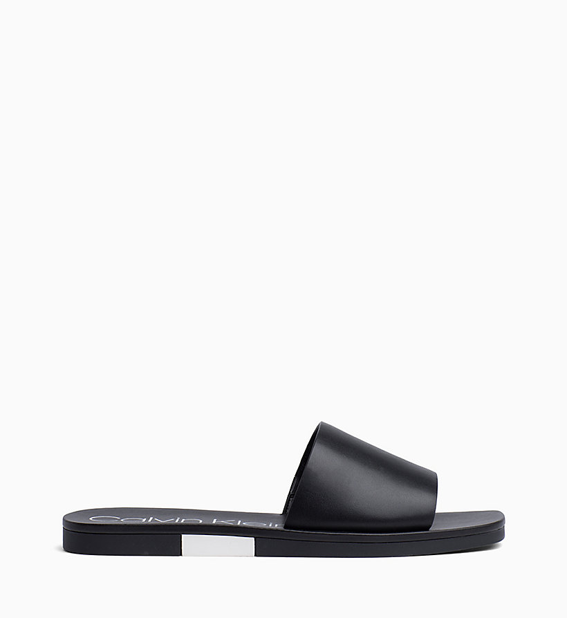 Calvin Klein - Leather Sliders - 1