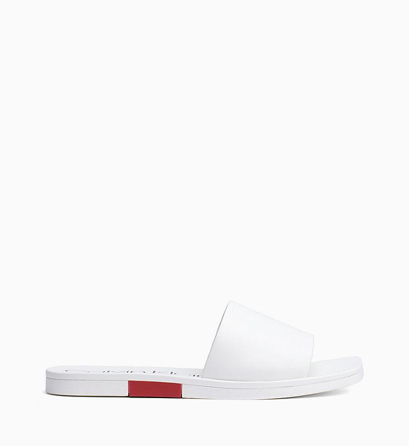 Calvin Klein - Leather Sliders - 1