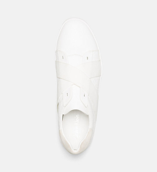 CALVINKLEIN Leather Slip-On Sneakers - WHITE - CALVIN KLEIN TRAINERS - detail image 1