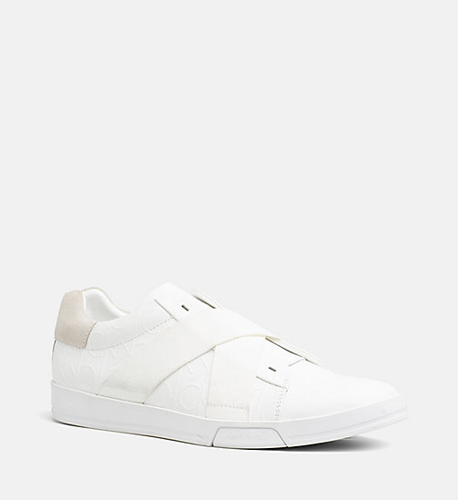 CALVINKLEIN Leather Slip-On Sneakers - WHITE - CALVIN KLEIN TRAINERS - main image