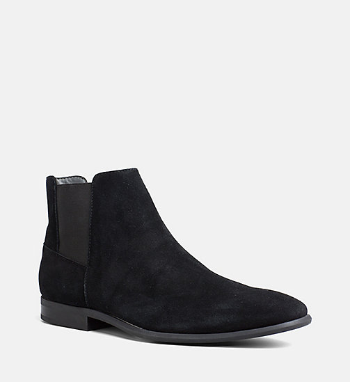 CALVINKLEIN Suede Ankle Boots - BLACK - CALVIN KLEIN SHOES & ACCESSORIES - main image