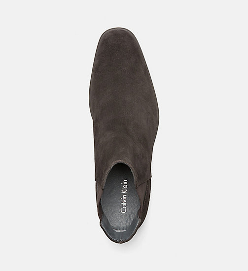 CALVINKLEIN Suede Ankle Boots - DARK BROWN - CALVIN KLEIN SHOES & ACCESSORIES - detail image 1