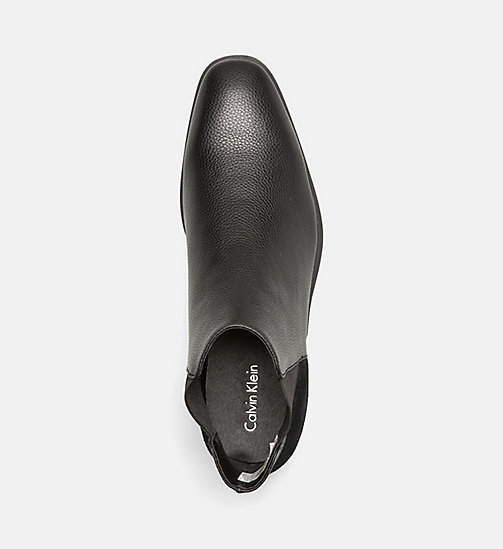 CALVINKLEIN Leather Ankle Boots - BLACK - CALVIN KLEIN MODERN CLASSIC - detail image 1