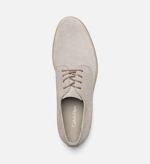 CALVINKLEIN Suede Lace-Up Shoes - TOFFEE - CALVIN KLEIN FLAT SHOES - detail image 1