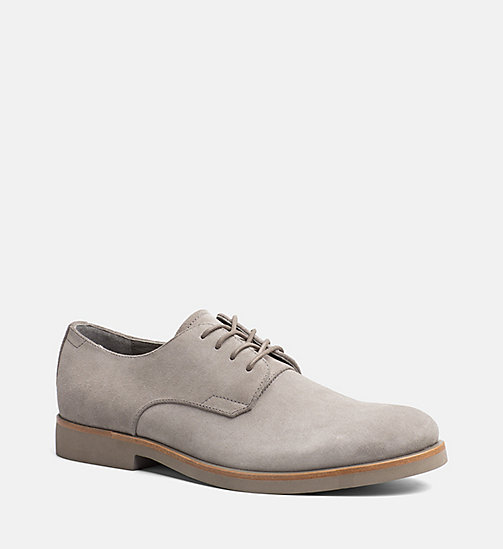 CALVINKLEIN Suede Lace-Up Shoes - TOFFEE - CALVIN KLEIN FLAT SHOES - main image