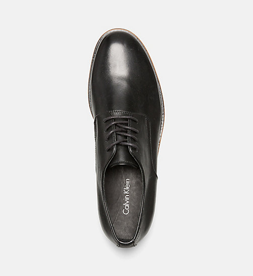 CALVINKLEIN Leather Lace-Up Shoes - BLACK - CALVIN KLEIN SHOES & ACCESSORIES - detail image 1