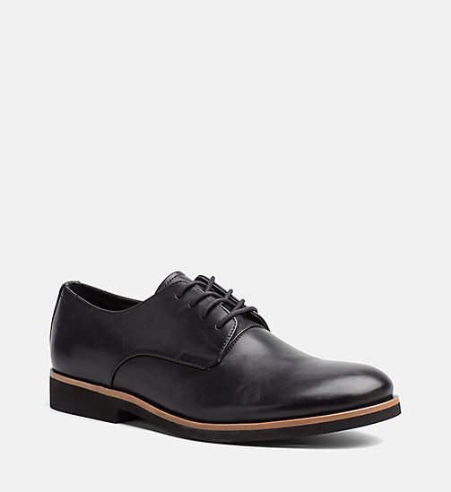 CALVINKLEIN Leather Lace-Up Shoes - BLACK - CALVIN KLEIN SHOES & ACCESSORIES - main image