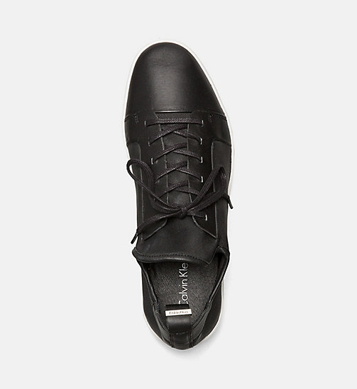 CALVINKLEIN Leather Sneakers - BLACK - CALVIN KLEIN SHOES - detail image 1