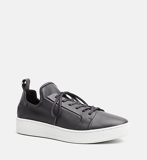 CALVINKLEIN Leather Sneakers - BLACK - CALVIN KLEIN SHOES - main image