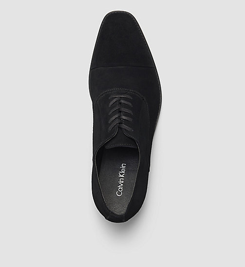 CALVINKLEIN Suede Lace-Up Shoes - BLACK /  BLACK - CALVIN KLEIN FLAT SHOES - detail image 1