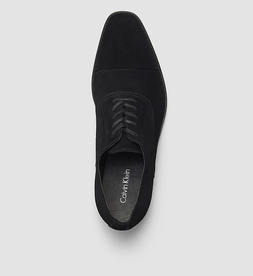 CALVINKLEIN Suede Lace-Up Shoes - BLACK/BLACK - CALVIN KLEIN SHOES & ACCESSORIES - detail image 1