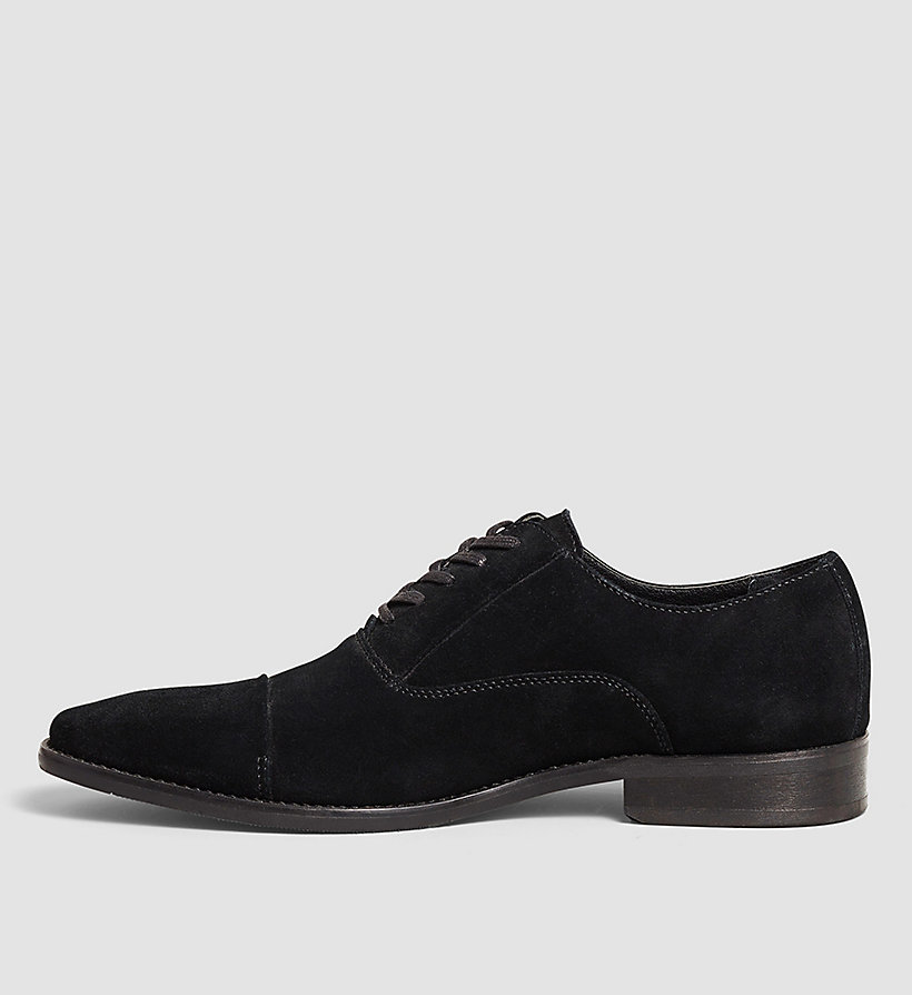 CALVINKLEIN Suede Lace-Up Shoes - BLACK/BLACK - CALVIN KLEIN SHOES & ACCESSORIES - detail image 2