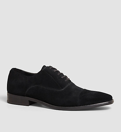 CALVIN KLEIN Suede Lace-Up Shoes 00000F0740BLK