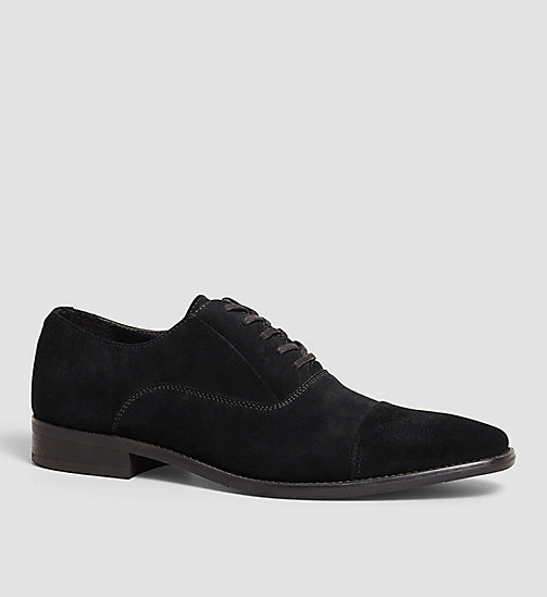 Suede Lace-Up Shoes - BLACK/BLACK - CALVIN KLEIN  - main image