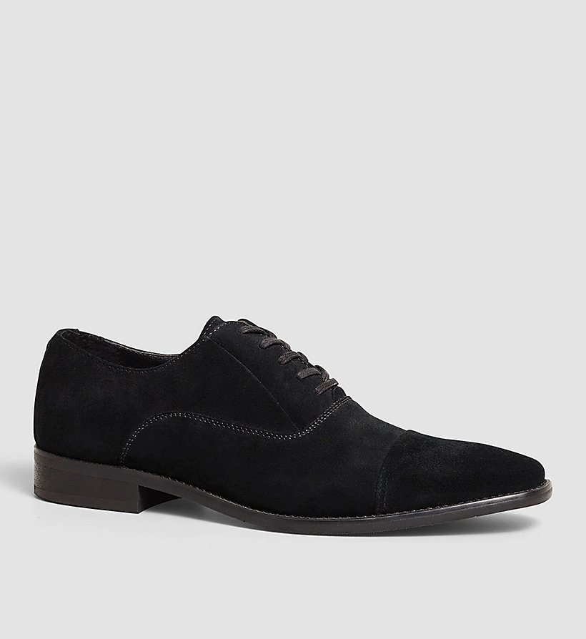 CALVINKLEIN Suede Lace-Up Shoes - BLACK/BLACK - CALVIN KLEIN SHOES & ACCESSORIES - main image