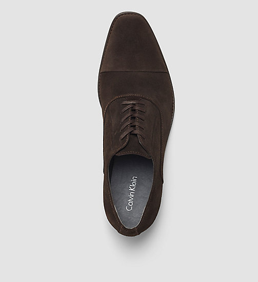 CALVINKLEIN Suede Lace-Up Shoes - BLACK/DARK BROWN - CALVIN KLEIN FLAT SHOES - detail image 1