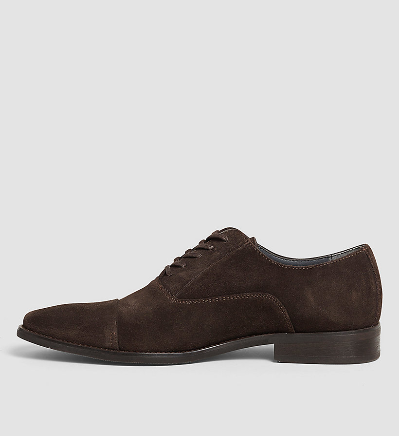 CALVINKLEIN Suede Lace-Up Shoes - BLACK/DARK BROWN - CALVIN KLEIN SHOES & ACCESSORIES - detail image 2