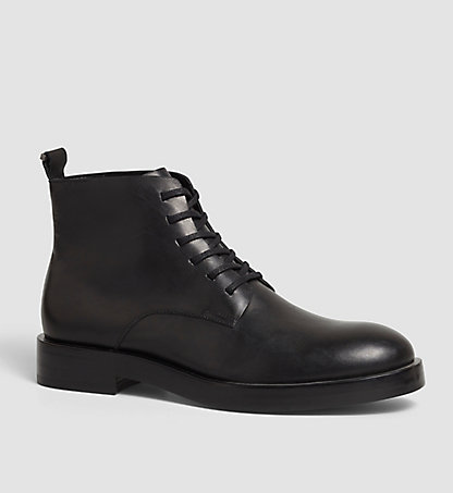 CALVIN KLEIN Leather Ankle Boots - Read 00000F0766BLK