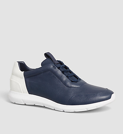 CALVIN KLEIN Leather Sneakers - Sherman 00000F0776DNY
