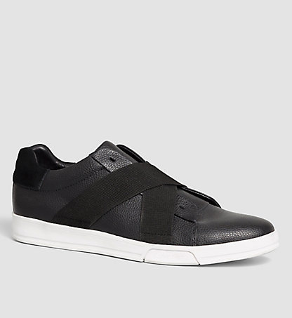 CALVIN KLEIN Leather Slip-On Shoes - Baku 00000F0798BLK
