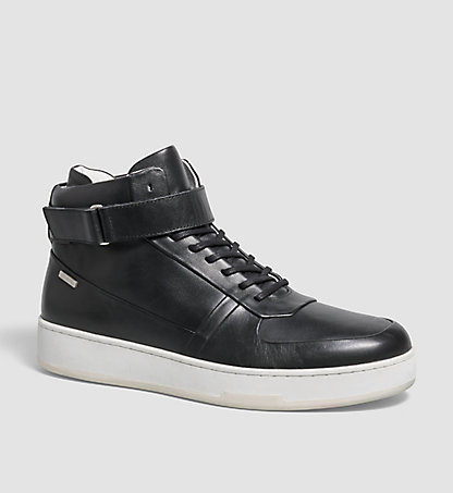 CALVIN KLEIN Leather Sneakers - Navin 00000F0806BLK