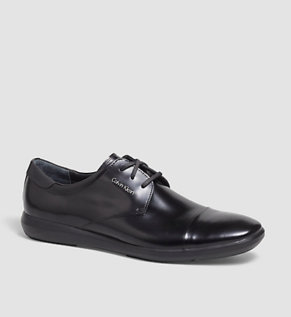 CALVIN KLEIN Leather Lace-Up Shoes - Zale 00000F0829BCC