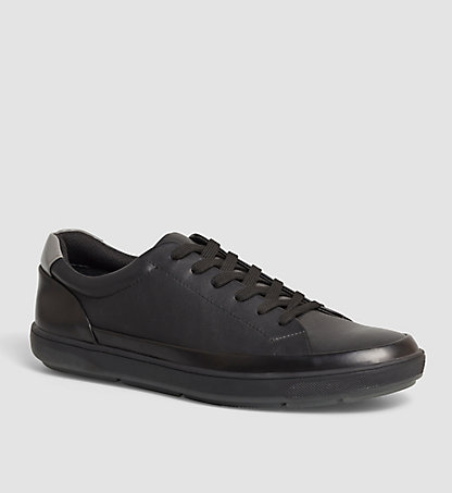 CALVIN KLEIN Leather Sneakers - Ward 00000F0847BLK