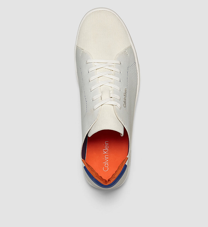 CALVINKLEIN Sneakers - WHITE/WHITE/BRAVE BLUE - CALVIN KLEIN SHOES & ACCESSORIES - detail image 1