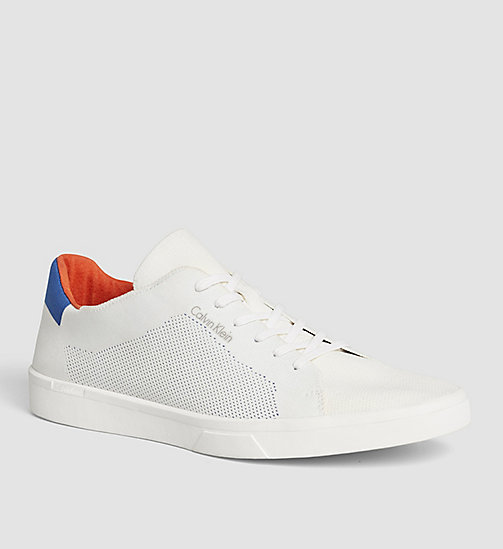 Sneakers - WHITE/WHITE/BRAVE BLUE - CALVIN KLEIN SHOES & ACCESSORIES - main image