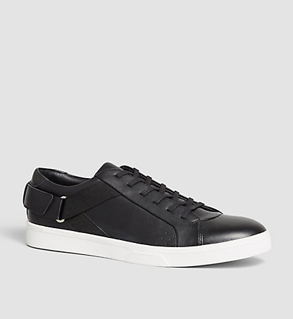 CALVIN KLEIN Leather Sneakers - Italo 00000F0862BLK