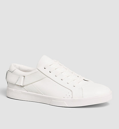 CALVIN KLEIN Leather Sneakers - Italo 00000F0862WHT