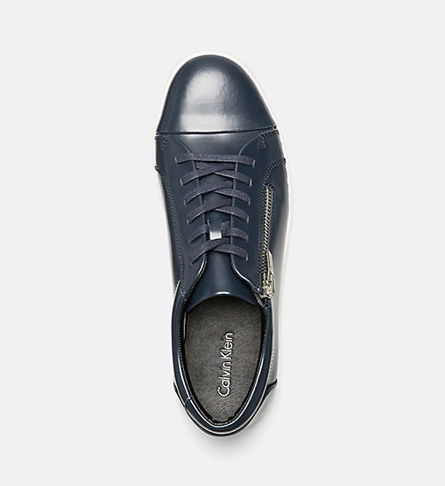 CALVINKLEIN Leather Sneakers - DARK NAVY - CALVIN KLEIN SHOES & ACCESSORIES - detail image 1