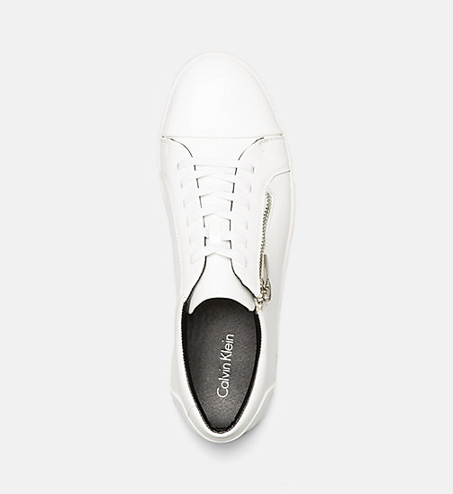 CALVINKLEIN Leather Sneakers - WHITE - CALVIN KLEIN SHOES & ACCESSORIES - detail image 1