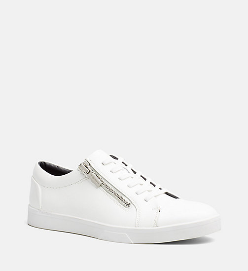 CALVINKLEIN Leather Sneakers - WHITE - CALVIN KLEIN SHOES & ACCESSORIES - main image