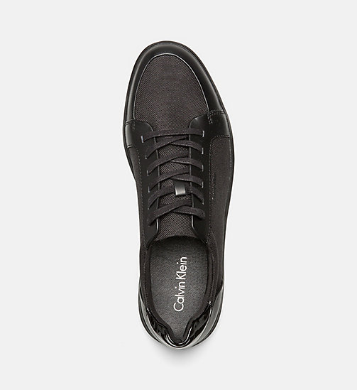 CALVINKLEIN Leather Nylon Sneakers - BLACK - CALVIN KLEIN TRAINERS - detail image 1