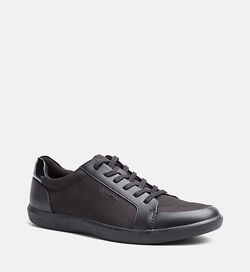 CALVINKLEIN Leather Nylon Sneakers - BLACK - CALVIN KLEIN TRAINERS - main image