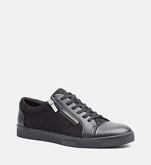 CALVINKLEIN Logo Sneakers - BLACK/BLACK - CALVIN KLEIN SHOES & ACCESSORIES - main image