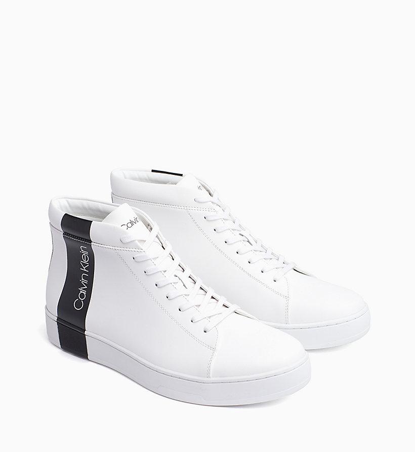 Calvin Klein - High Top Sneakers aus Leder - 2