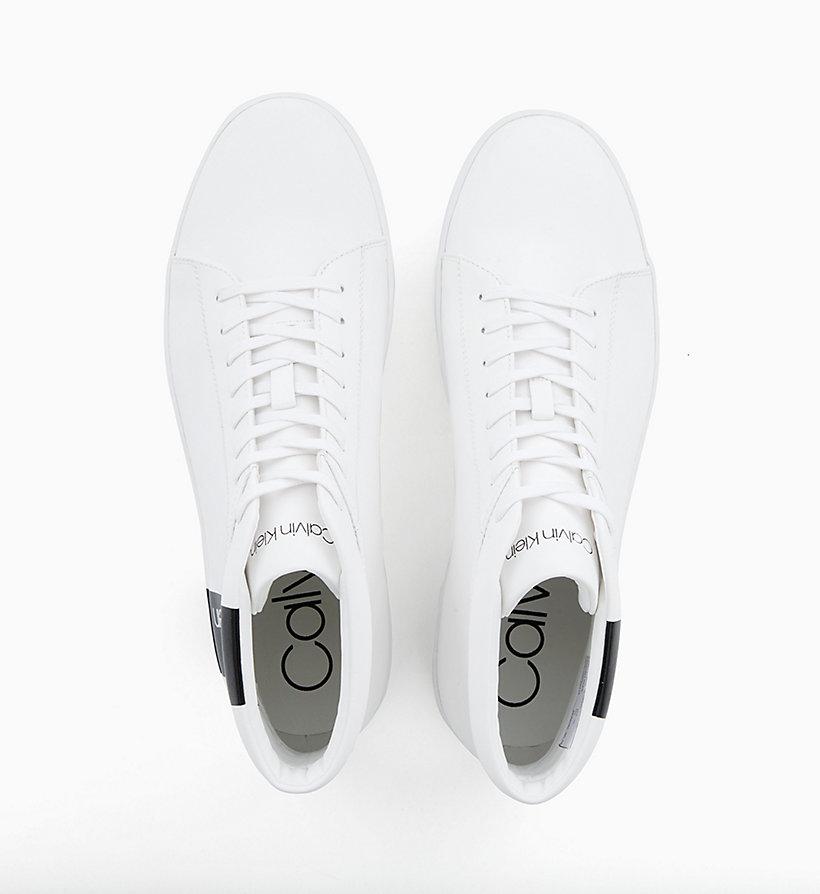 Calvin Klein - High Top Sneakers aus Leder - 4