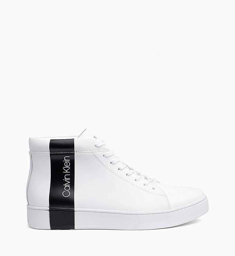 Calvin Klein - High Top Sneakers aus Leder - 1