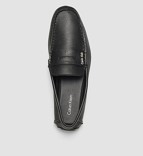 Leather Loafers - BLACK /  BLACK - CALVIN KLEIN SHOES & ACCESSORIES - detail image 1