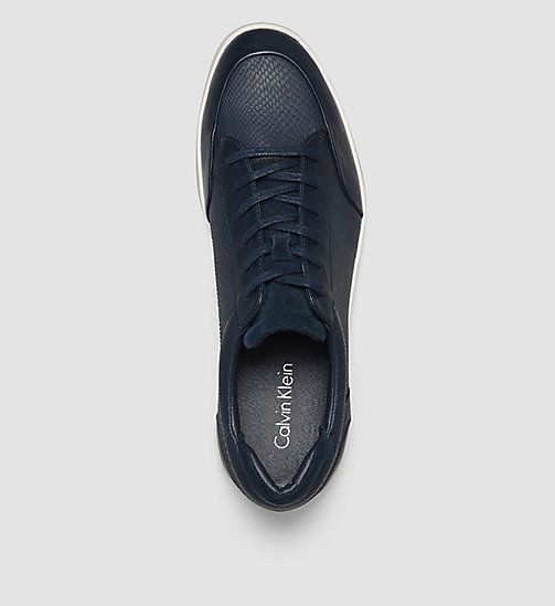 Leather Sneakers - BLACK/DARK NAVY - CALVIN KLEIN  - detail image 1