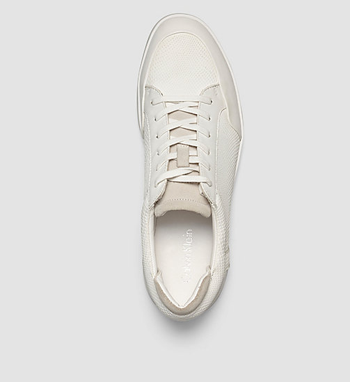 CALVINKLEIN Leather Sneakers - BLACK/WHITE - CALVIN KLEIN SHOES - detail image 1