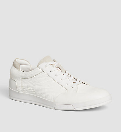 CALVIN KLEIN Leather Sneakers 00000F1719WHT