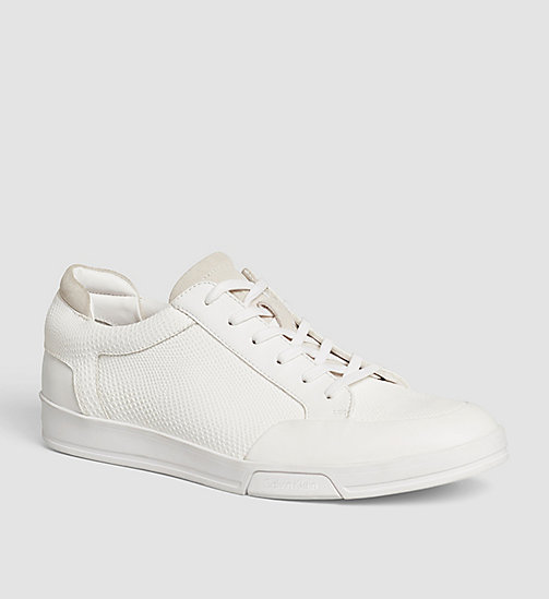 CALVINKLEIN Leather Sneakers - BLACK/WHITE - CALVIN KLEIN VIP SALE MEN - main image