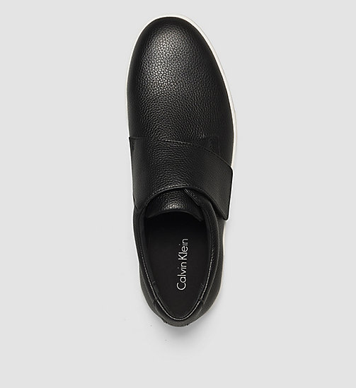 Leather Slip-On Shoes - BLACK /  BLACK - CALVIN KLEIN SHOES & ACCESSORIES - detail image 1