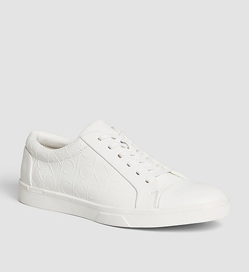 CALVINKLEIN Leather Sneakers - BLACK/WHITE - CALVIN KLEIN SHOES - main image