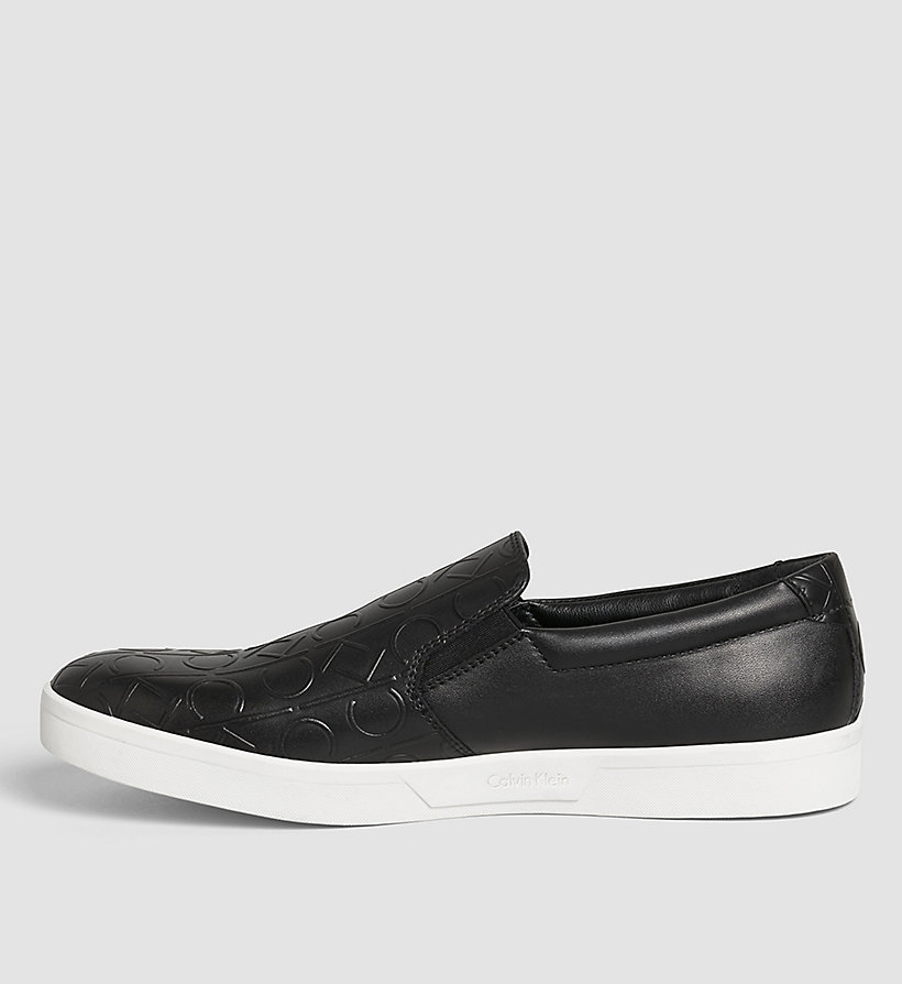 CALVINKLEIN Leather Slip-On Shoes - BLACK /  BLACK - CALVIN KLEIN SHOES & ACCESSORIES - detail image 2