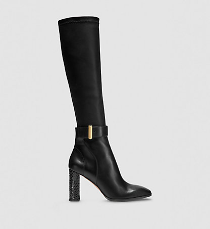 CALVIN KLEIN COLLECTION Bottes à talons bottier en cuir 00000J0400BCC